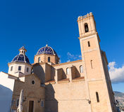 Altea old village Church typical Mediterranean Stock Images