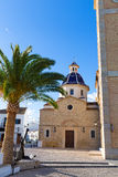 Altea old village Church typical Mediterranean Royalty Free Stock Photo