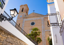 Altea old village Church typical Mediterranean Stock Image