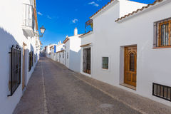 Altea old village in white typical Mediterranean Stock Photos