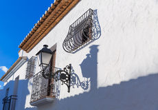 Altea old village in white typical Mediterranean Royalty Free Stock Photos