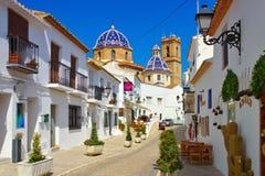 Altea på Costa Blanca, Spanien arkivfoto