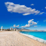 Altea Playa del Albir of white stones in Alicante Stock Photo