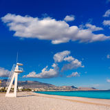 Altea Playa del Albir of white stones in Alicante Royalty Free Stock Image
