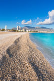 Altea Playa del Albir of white stones in Alicante Royalty Free Stock Images
