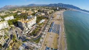 Altea Playa del Albir of white stones in Alicante Mediterranean Stock Photo