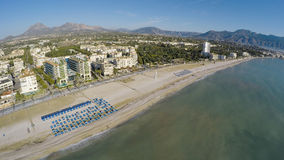 Altea Playa del Albir of white stones in Alicante Mediterranean Royalty Free Stock Images