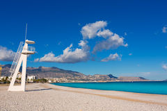 Altea Playa del Albir of white stones in Alicante Royalty Free Stock Photos