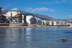 Altea Resort. Altea, Spain - expensive apartment houses and hotel at beach region Stock Image