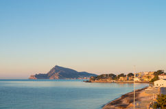 Altea shore Stock Photography