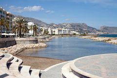 Altea, Spain. Beach Promenade and Apartments of Altea, South East Spain Royalty Free Stock Image