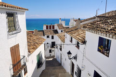 Altea, Spain. View of white houses of old town Altea, Spain Stock Image