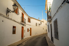 Altea street, Alicante. Street in old town Altea, Costa Blanca, Spain Royalty Free Stock Photos