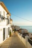 Altea street. Charming  Altea old town  street,  Costa Blanca, Spain Stock Image