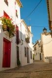 Altea street, Spain. Street in old town Altea, Costa Blanca, Spain Royalty Free Stock Photo
