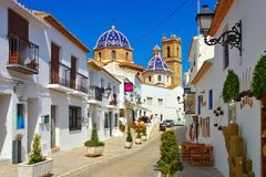 Altea su Costa Blanca, Spagna Fotografia Stock