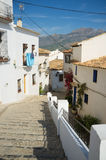Altea tipical street Royalty Free Stock Photos