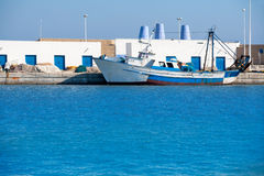 Altea village in alicante por fishing boat at  Valencian Communi Royalty Free Stock Photography