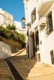 Altea village. Street in old town Altea, Costa Blanca, Spain Stock Image