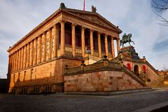 alteberlin nationalgalerie royaltyfri foto