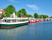 Am Alten Strom, Warnemuende, morze bałtyckie, Niemcy Zdjęcie Royalty Free