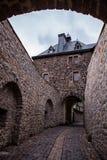 Altena är en stad i Tyskland, i den norr Rhen - Westphalia Arkivbild