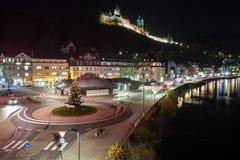 Altena Germania alla notte Immagini Stock
