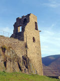 Altenahr castle ruin in Germany. Ruins of medieval fortress Altenahr at top of mountain Stock Images