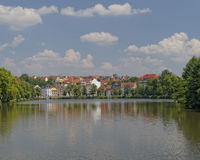 Altenburg city, Germany, view from the lake Stock Image