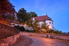 Altenburg Niemcy, Maj 2018 -: imponująco siedziba kasztel przed błękitnym lata niebem obrazy stock