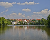Altenburg, picturesque view from the lake, Germany Stock Photography