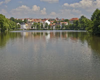 Altenburg, picturesque view from the lake, Germany Royalty Free Stock Image