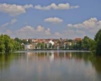 Altenburg pittoresk sikt från sjön, Tyskland Arkivbild