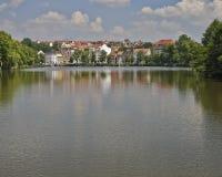 Altenburg, schilderachtige mening van het meer, Duitsland Royalty-vrije Stock Afbeelding
