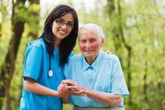 Altenpflege Stockfoto