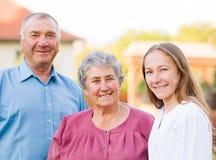 Altenpflege Stockfotografie