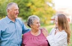 Altenpflege Stockfotos
