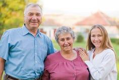 Altenpflege Stockbild