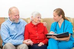 Altenpflege lizenzfreies stockbild