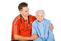 Altenpflege zu Hause Stockfotos