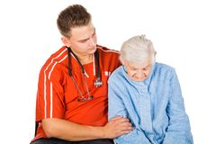 Altenpflege zu Hause Stockbild