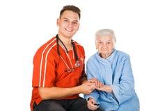 Altenpflege zu Hause Lizenzfreie Stockfotos