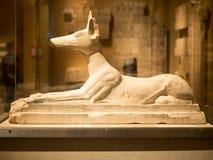 Alter ägyptischer Gott Anubis am Stadtmuseum in NY Lizenzfreie Stockfotografie