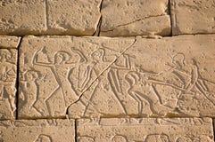 Alter ägyptischer Kampf, Ramesseum, Luxor Lizenzfreies Stockfoto