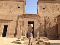 Alter ägyptischer Tempel Lizenzfreies Stockfoto