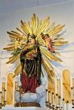 Alter Adobe-Auftrag, unsere Dame der unaufhörliche Hilfskatholischen Kirche, Scottsdale, Arizona, Vereinigte Staaten Lizenzfreie Stockfotografie