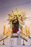 Alter Adobe-Auftrag, unsere Dame der unaufhörliche Hilfskatholischen Kirche, Scottsdale, Arizona, Vereinigte Staaten Stockfotos