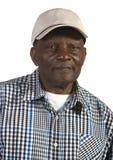 Alter Afroamerikaner-Mann-tragender Hut lizenzfreie stockbilder