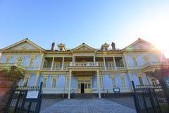 Alter allgemeiner Hall von Hakodate-Bezirk in Motomachi-Bezirk Lizenzfreies Stockfoto