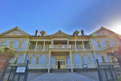 Alter allgemeiner Hall von Hakodate-Bezirk in Motomachi-Bezirk Lizenzfreies Stockbild